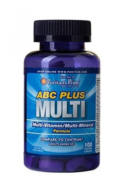 Puritans Pride ABC Plus Multivitamin 100 caplets