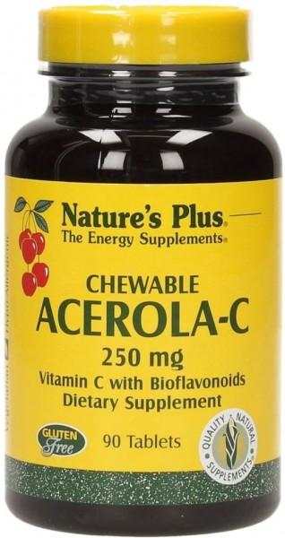 Natures Plus Chewable Acerola-C 250 mg - 90 Lutschtabletten