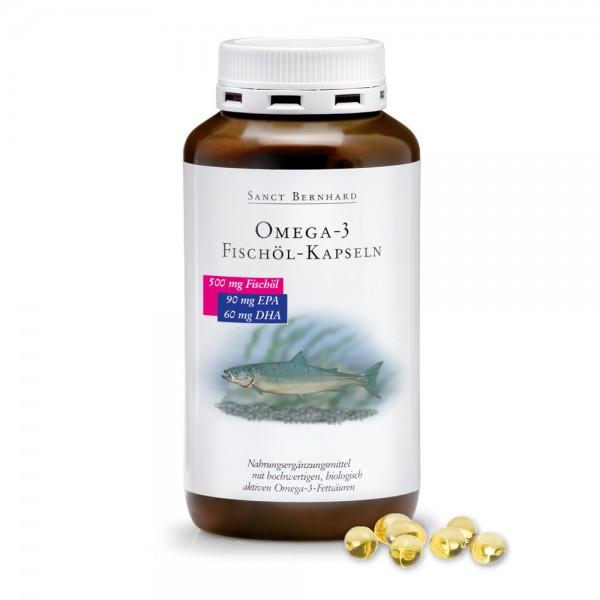 Sanct Bernhard - Omega-3-Fischöl-Kapseln - 400 Kapseln
