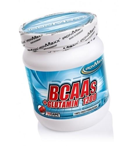 IronMaxx BCAAs + L-Glutamin 1200 Tricaps - 260 Kapseln