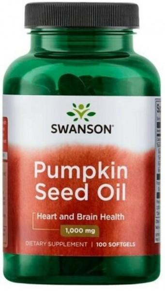 Swanson Pumpkin seed oil- Kürbiskernöl 1000 mg-100 Weichkapseln