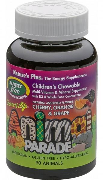 Natures Plus Animal Parade Children`s Chewable Multivitamin sugar free _ 90 Lutschtabletten