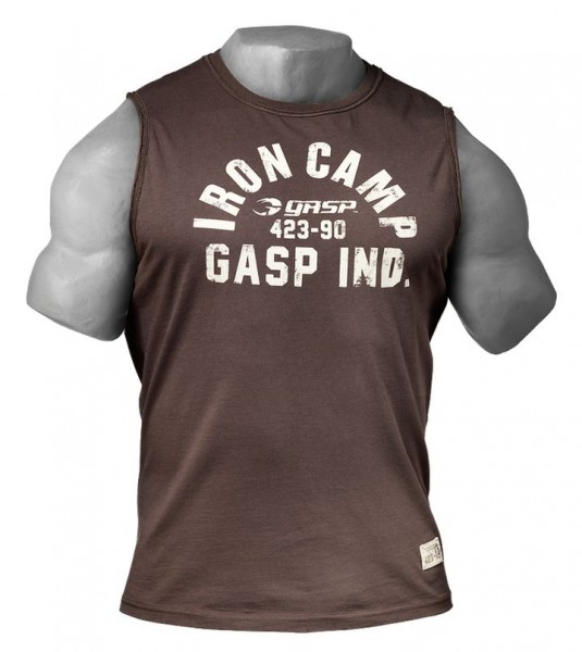Gasp Tank Throwback S/L Timber