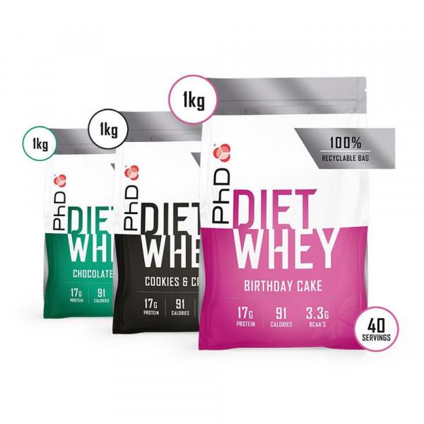 PhD Diet Whey - 1000g Beutel