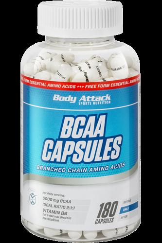 Body Attack BCAA Capsules - 180 Kapseln