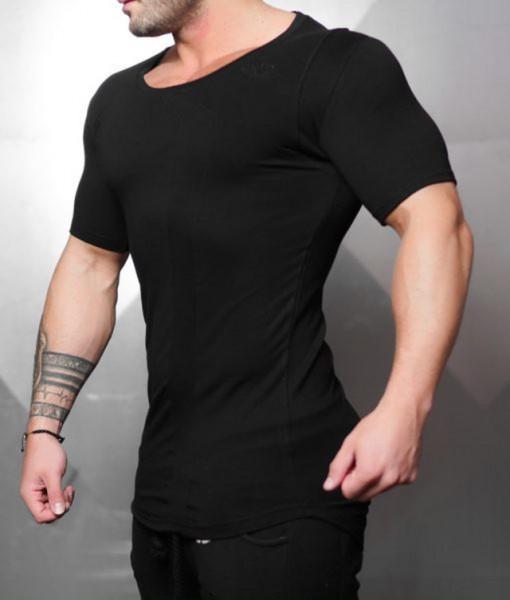 Body Engineers - Neo Double Cuffed T-Shirt Black