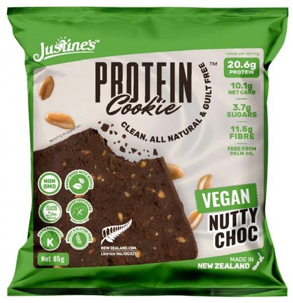 Justines Vegan Protein Cookie - 1 x 85 g, Nutty Choc
