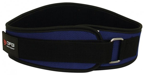 DFG Gewichtheber Gürtel Nylon - Blau