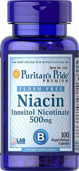 Puritans Pride Niacin 500 mg Flush Free - 100 Kapseln