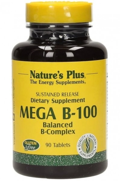 Natures Plus MEGA B-100 Sustained Release - 90 Tabletten