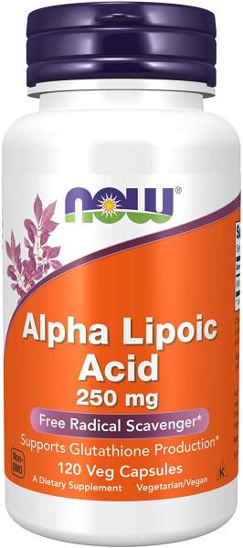 Now Foods- Alpha Lipoic Acid 250 mg- 120 veg. Kapseln