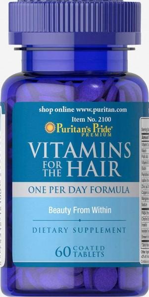 Puritans Pride Vitamins for the Hair- Vitamine für die Haare– 60 überzogene Tabletten
