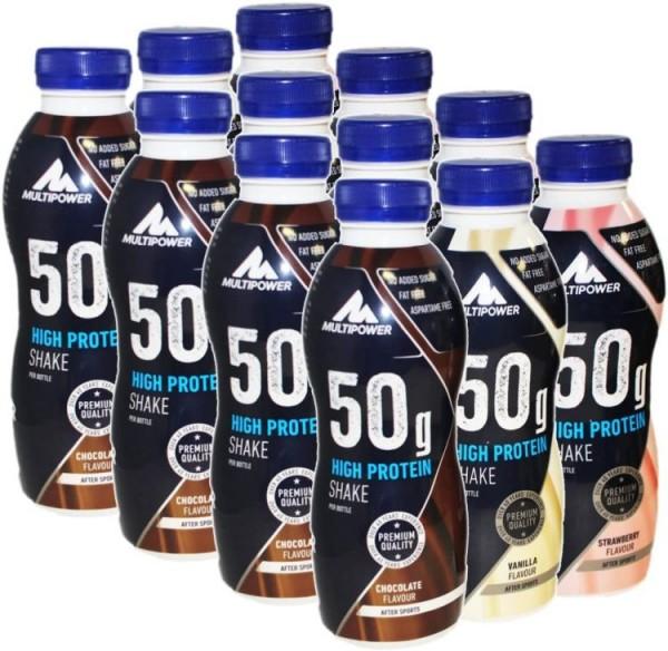 Multipower 50 g High Protein Shake 12 x 500 ml