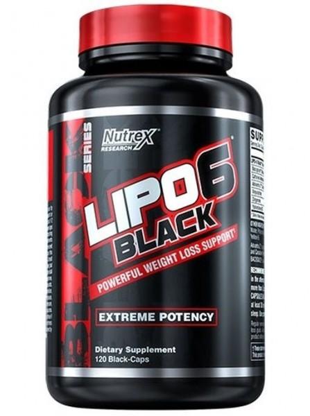 Nutrex Lipo 6 Black - 120 Black-Caps