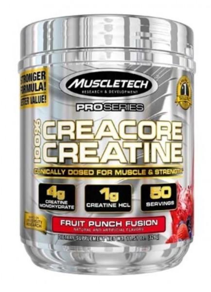 Muscletech 100% Creacore Creatine, 326g-Dose - Fruit Punch