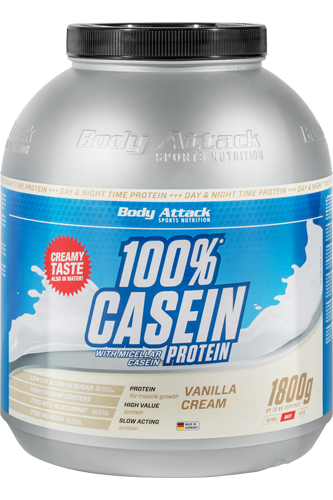 Body Attack 100% Casein Protein 1800g