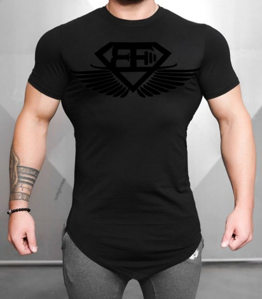 Engineered Life T-Shirt T 2.0 Black On Black - Body Engineers