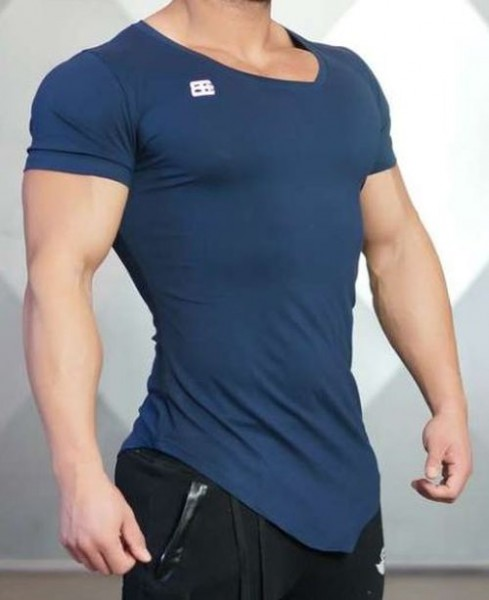Body Engineers AESYMETRIC V-Neck Navy Blue