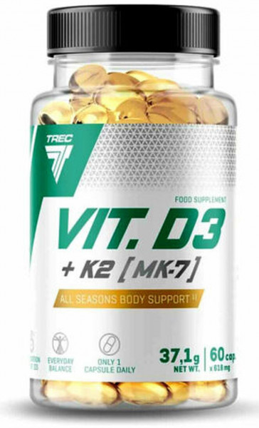 Trec Nutrition Vitamin D3 + K2- 60 Kapseln