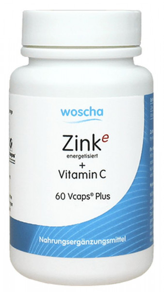 Woscha Zink Energetisiert + Vitamin C - 60 Kapseln
