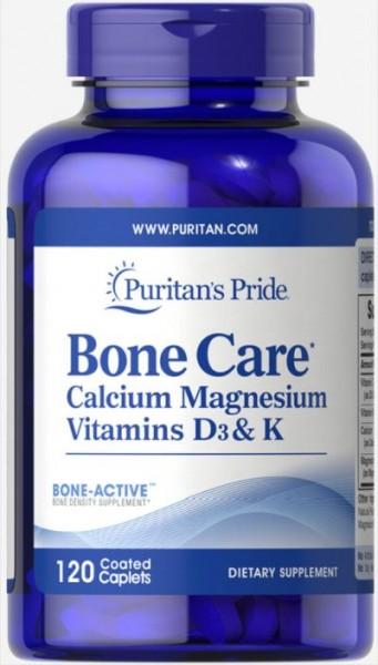 Puritans Pride Bone Care 120 Caplets