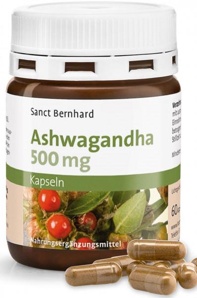 Sanct Bernhard Ashwagandha 500 mg- 60 Kapseln