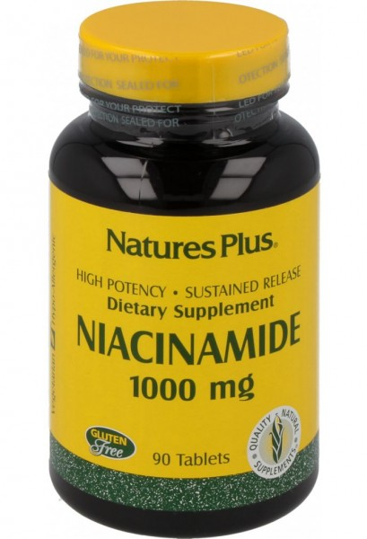 Natures Plus Niacinamide 1000 mg - 90 Tabletten