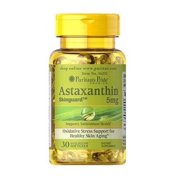 Puritans Pride Astaxanthin 5 mg 30 Softgels