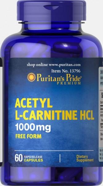 Puritans Pride ACETYL L-Carnitine HCI 60 Kapseln