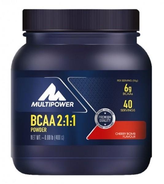Multipower BCAA 2:1:1 Powder Kirsch-Geschmack - 400 g Dose