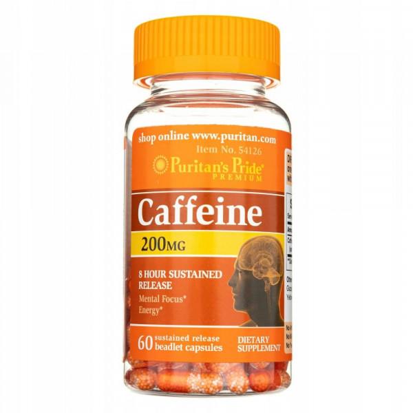 Puritans Pride Caffeine (Koffein) 200 mg- 8 hour sustained release- 60 Kapseln
