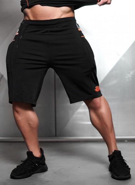 Body Engineers Samuru Performance Shorts Black/Dutch Orange