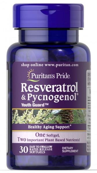 Puritans Pride Resveratrol & Pycnogenol - 30 Softgels